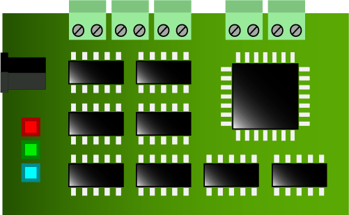 embedded systems - pcb board example - electronics fields