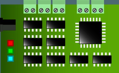 sistemas embebidos - ejemplo placa pcb - campos de la electronica