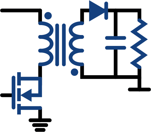 power electronics and switch mode circuits picture showing a flyback topology smps power supply - electronics fields