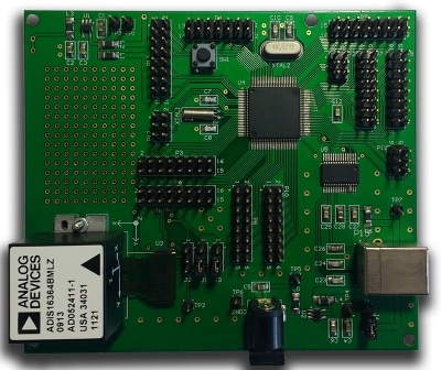 inertial navigation system - fully assembled pcb, designed and assembled at cohen electronics consulting