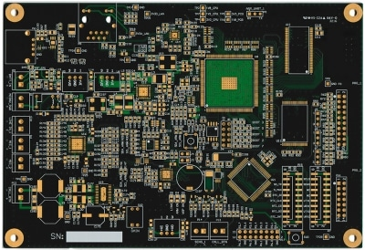 custom voip pcb - bare 6 layer printed circuit board designed at cohen electronics consulting