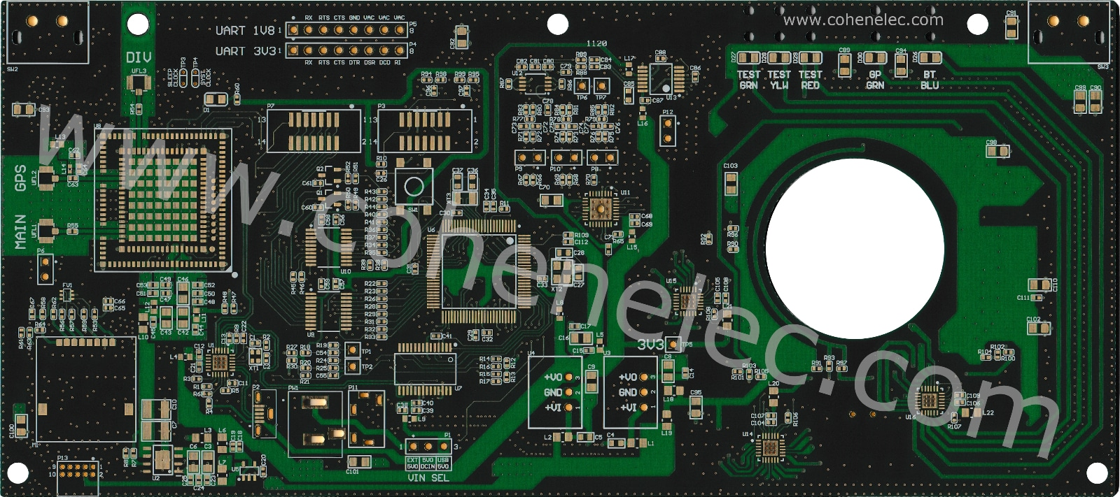 custom iot industrial bare pcb
